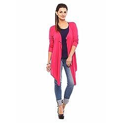 Vvoguish Corporate Wear Pink Shrugs-VVSHU809PNK-L