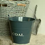Garden Trading Slate Metal Coal Bucket