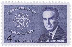 #1200 - 1962 4c Sen. Brien McMahon U. S. Postage Stamp Plate Block (4)