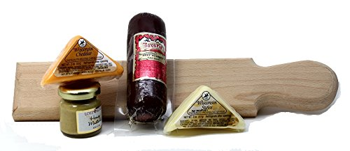 Yankee Traders, Wooden Paddle, Hostess Gift Set, Sausage & Cheese image