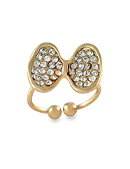 Bow Design Adjustable Gold Toe Ring For Women By Sarah - B00XJ9EZ8M