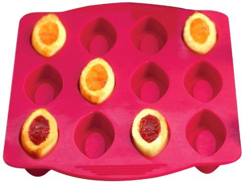 Yoko Design 1248 Moule à Barquette Silicone/Platine Fuchsia 33,3 x 18,8 x 1,5 cm