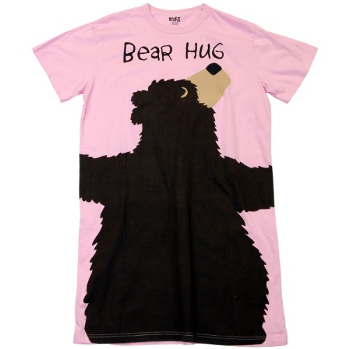 Bear Hug-Bear Pink Nightshirt by LazyOne, Pink, One Size (Black Bear Pajamas compare prices)