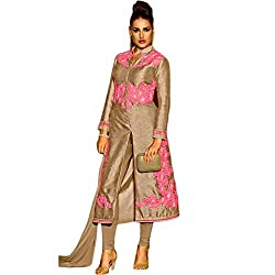 Latest Wize Imperial Boldness Pure Silk Embroidered Front Cut Dress Material