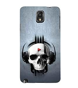 EPICCASE Skull music Mobile Back Case Cover For Samsung Galaxy Note 3 (Designer Case)