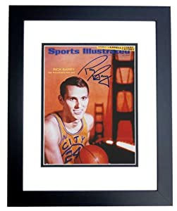 Rick Barry Autographed Hand Signed Golden State Warriors 8x10 Photo - BLACK CUSTOM... by Real+Deal+Memorabilia