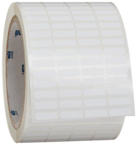 "Brady Tht-14-351-10 0.65"" Width X 0.2"" Height, B-351 Tamper-Resistant Vinyl, Matte Finish White Thermal Transfer Printable Labels (10000 Per Roll)"