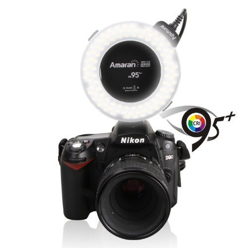 Aputure-Amaran-Halo-AHL-H100-LED-Ring-Flash-Light-for-Nikon-Cameras