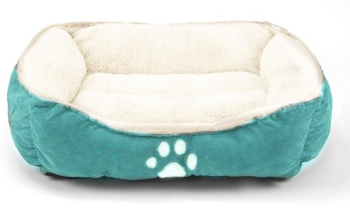 Sofantex Pet Line Medium Size Pet Beds Paw Print Blue (Blue, 25 Inces)