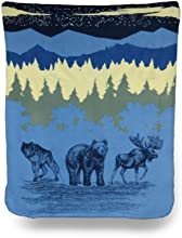 Cozy Mountain Wildlife Fleece Throw Blanket 50 In X 60 in