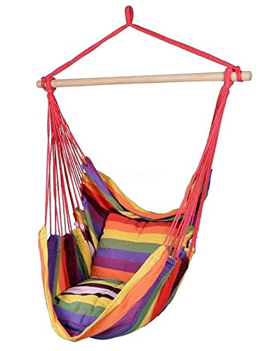 Busen Hammock Hanging Rope Chair Sky Air Swing Porch with