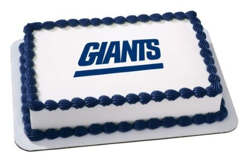 1/4 Sheet ~ NFL New York Giants Football ~ Edible