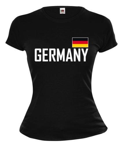 Girlie T-Shirt Germany-S-Black-