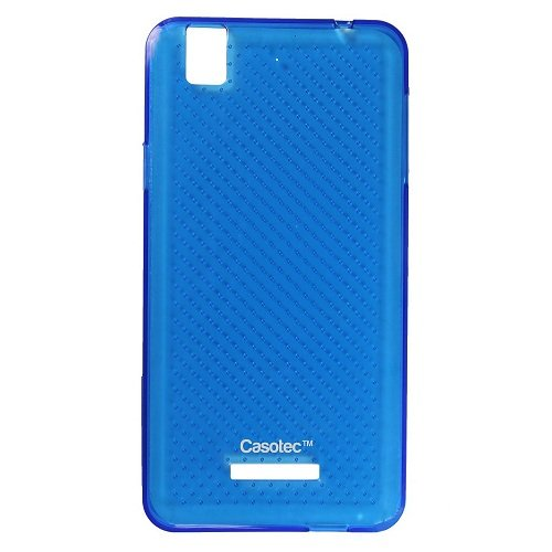 Casotec Soft Dotted TPU Back Case Cover for Micromax YU Yureka AQ5510 - Blue  available at amazon for Rs.125