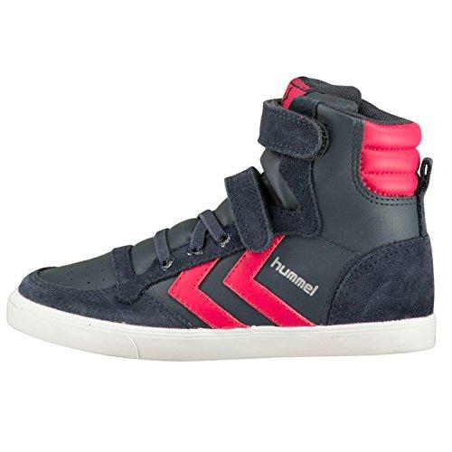 Hummel Slimmer Stadil Sneaker Jr, Stivali bambine multicolore, grigio (Rosa (Virtual Pink)), 27