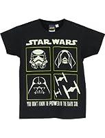 Star Wars - T-Shirt à Manches Courtes - Garçon - Lueur dans l'obscurité