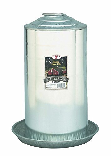Little Giant Double-Wall Metal Poultry Fount, 8-Gallon (Galvanized Waterer compare prices)