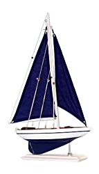Handcrafted Nautical Decor Pacific Sailer Sails Boat, 17