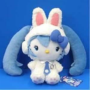 Amazon MIKU Hatsune Hello Kitty Snow Miku Plush Keychain JAPAN Hokkaido Limited Edition