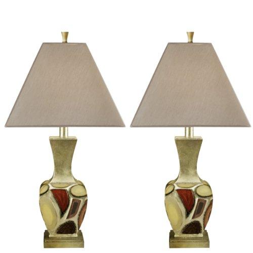 Ashley L289904 Multi-Colored Diallo Table Lamp, Set of 2, Multi