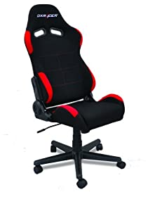 dx racer dxfbr02 office chair black fabric