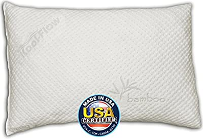 Snuggle-Pedic Ultra-Luxury Bamboo Shredded Memory Foam Pillow Combination | Kool-Flow® Micro-Vented Cover | Certified USA Manufacturer | 90 Day Refund & Free Exchange Policy from Relief-mart Inc