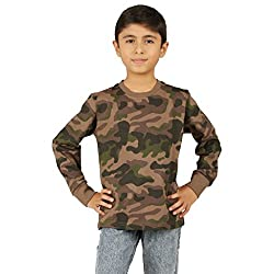 Clifton Boys Army T-Shirts Full Sleeve R-Neck -Walnut -XL