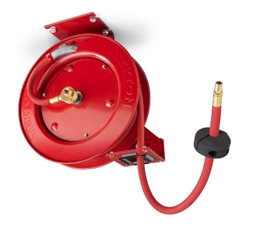 Retractable Air Hose Reel with 25-Feet by 3/8-Inch Goodyear Rubber Air