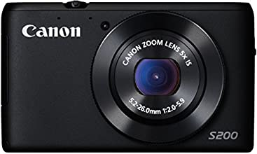 Canon PowerShot S200 Digitalkamera (10,1 Megapixel, 5-fach opt. Zoom, 7,5 cm (3 Zoll) LCD-Display, HD, GPS) schwarz