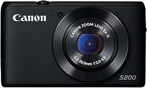 """Canon PowerShot S200 Appareil photo numérique compact 10,1 Mpix Écran LCD 3"""" Zoom optique 5X Noir"""