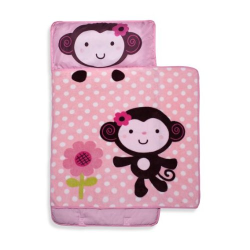kidsline Nap Mat, Pink Monkey (Discontinued by Manufacturer)