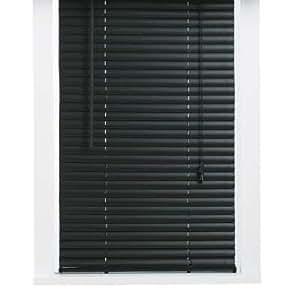 Vinyl 1 inch mini blind black 29x64 window for 15 inch window blinds
