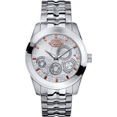 Marc Ecko The Supreme Mens Watch E11588G1 with Silver Dial and Stainless Steel Bracelet