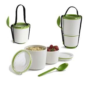 Black+Blum Lunch Pot - Lunch Box Grün/Weiss - Essensbehälter
