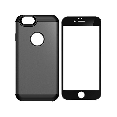 iPhone 6 / 6s Case & Screen Protector Combo, Anker Bumper Case and Tempered Glass Screen Protector for iPhone 6 / 6s , Full Protection (Gunmetal) (Iphone 6 Case Positive compare prices)