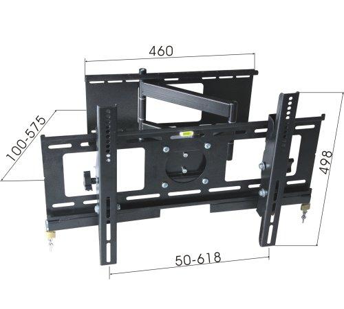wandhalterung 30 50 zoll neig und schwenkbar. Black Bedroom Furniture Sets. Home Design Ideas