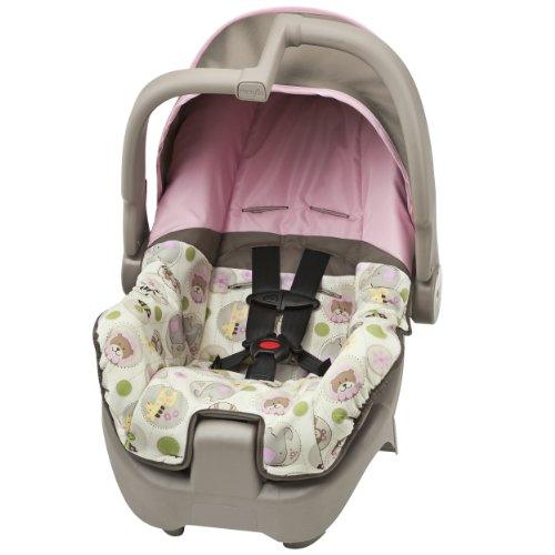 Evenflo Discovery 5 Zoo Crew Girl Infant Car Seat