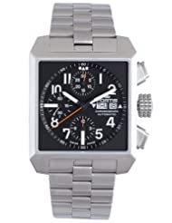 Fortis Men's 667.10.41 M Square Stainless Steel Chronograph Date Watch
