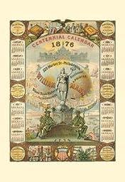 30 x 20 Stretched Canvas Poster William Mann 1876 Centennial Calendar