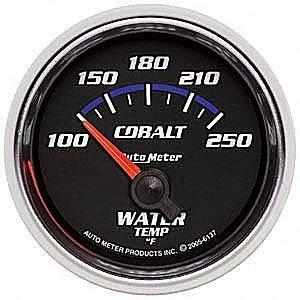 Auto Meter 6137 Cobalt Short Sweep Electric Water Temperature Gauge