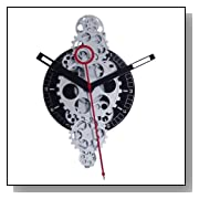Maples Whimsical Moving Gear Wall Clock