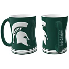 Buy Michigan State Spartans Coffee Mug - 15oz Sculpted by Caseys