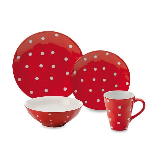 Polka Dot 4-Piece Place Setting