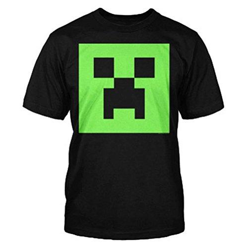 Camiseta-Minecraft-Creeper-Glow-In-The-Dark-talla-L