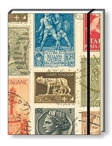 """ROSSI Schreibbuch """"Italien stamps"""" DIN A5, 64 Seiten, liniert mit tollem Design (NB657B)"""