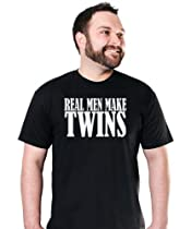 Real Men Make Twins T-Shirt Funny Father To Be Dad TEE Pregnant Maternity Daddy