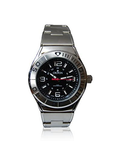 Croton Women's CA201237SSBK Black Stainless Steel Watch