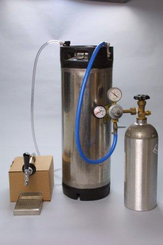 Refrigerator Cornelius Keg System w/ 5lb CO2