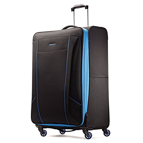 American Tourister Skylite Spinner 29, Black/Blue, One Size