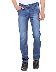 Mens Slim Fit Blue Stretch Denim Jeans For Men Size 30
